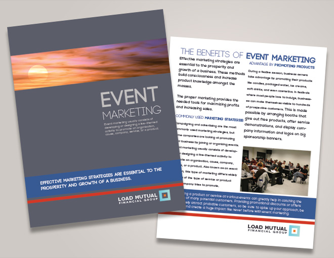 corporate event brochure seminar brochure design financial