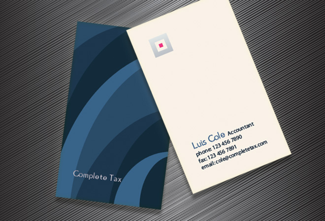 professional business cards design accounting business