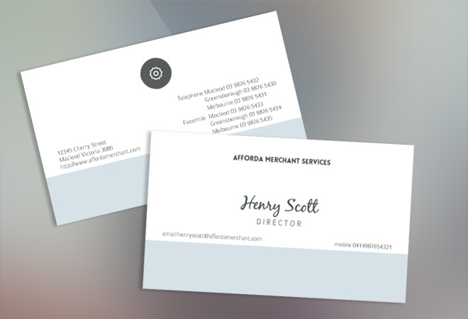 Business Card Standard Design