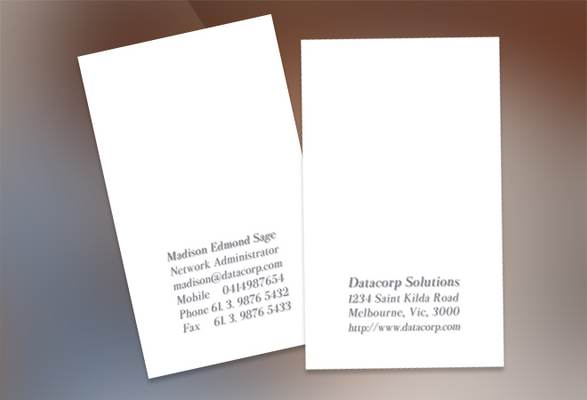 Advertising Business Card Design
