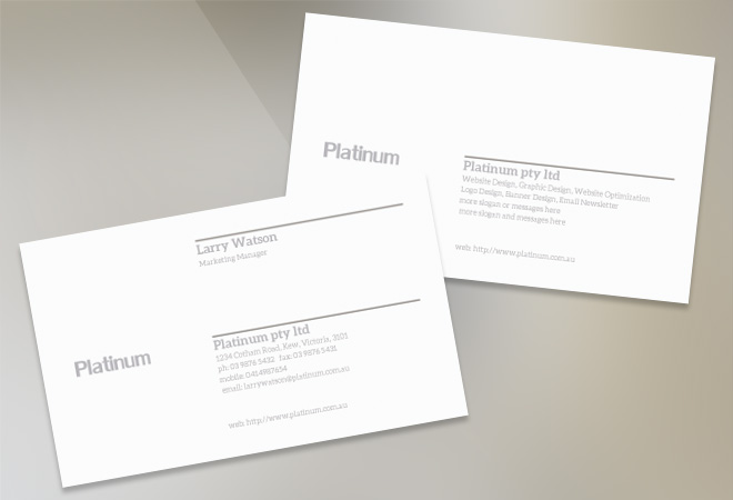 Business Design Corporate Card