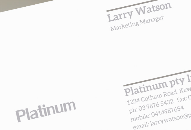 Design Luxury Card Business