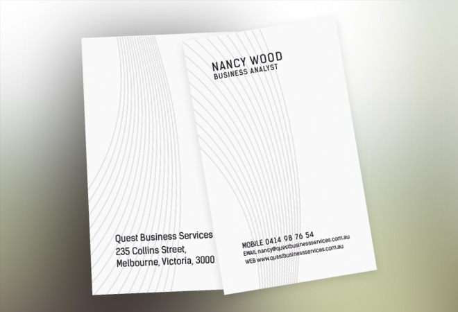 Education Business Card Design