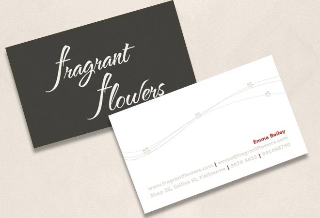 florist business cards design flower shop business cards