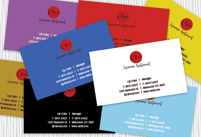 Restaurant Business Cards Design