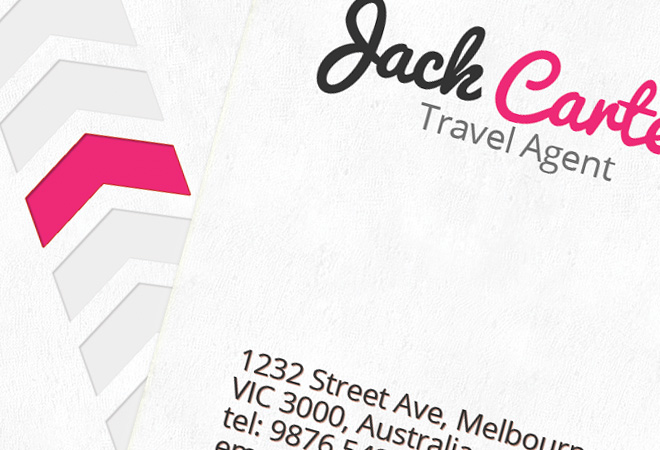 Travel Business Card Design