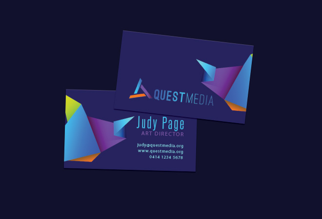 Business Raised Print Cards