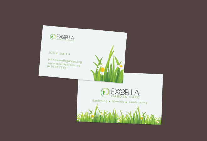 business garden card - Garden Design Business Cards