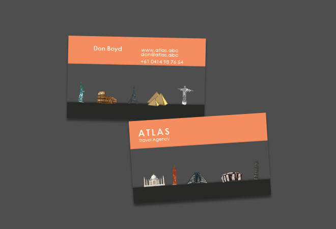 Business Card Travel Agency Holiday Travel Agent Unique Professional Modern Fun Contemporary