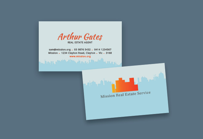 Business Real Estate Card