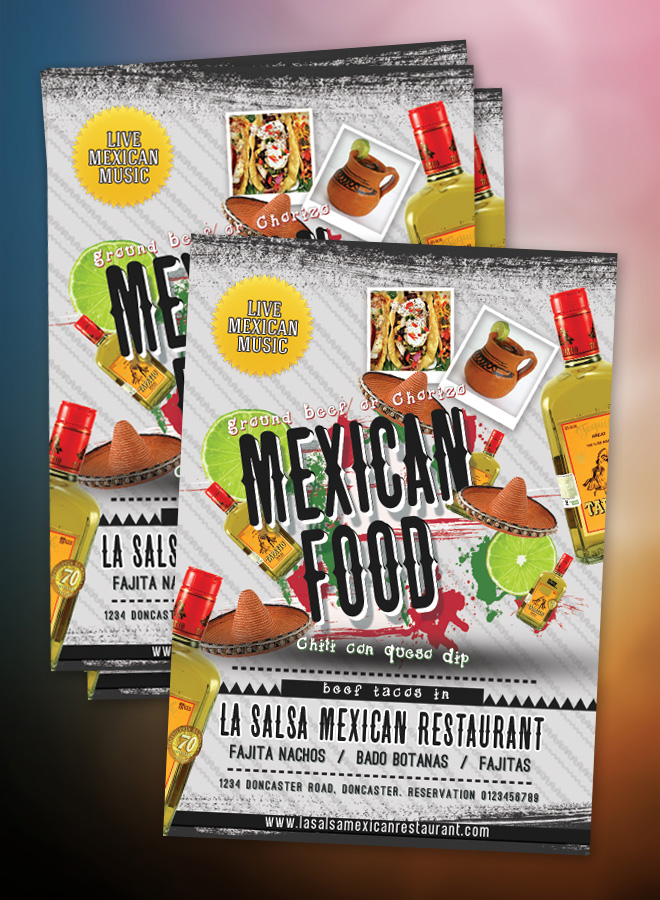 mexican flyer mexican restaurant flyer mexican restaurant