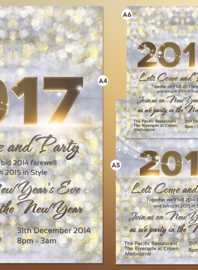 2017 New Years Invitation Flyer Bokeh Texture Light Bokeh Background ...