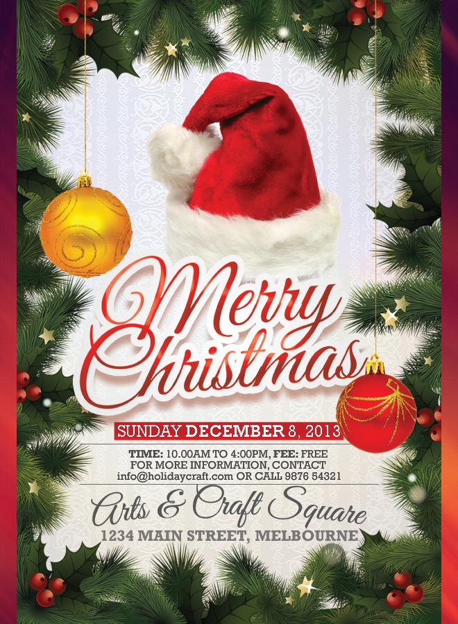 Christmas Flyers.Merry Christmas Design Flyer Christmas Fair Flyer Christmas