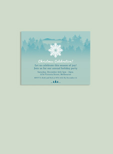 Snowflake Invitation Card
