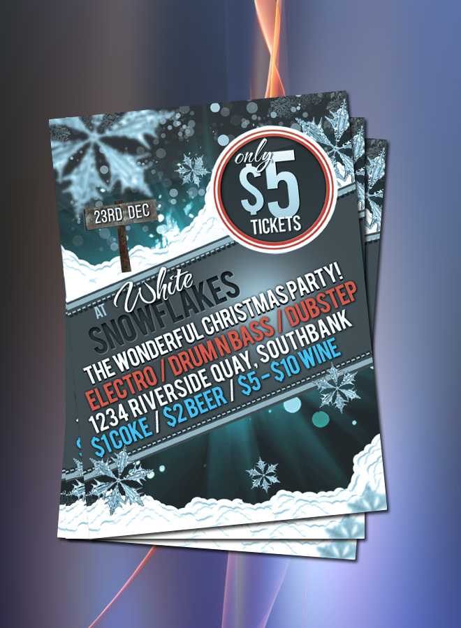 Snowflakes Party Christmas  Flyer
