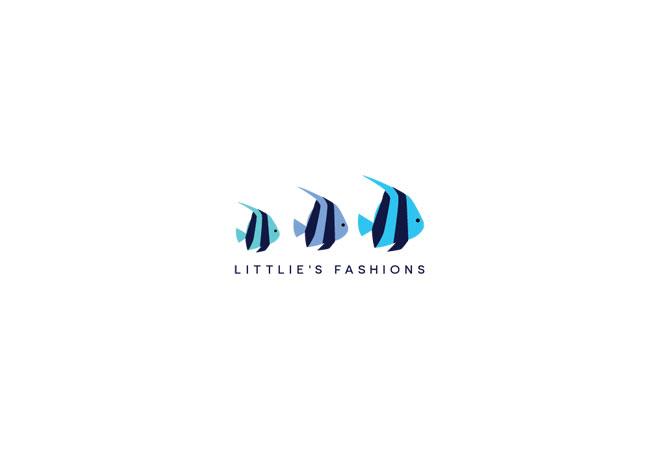 Fish Logo Angel Child Care Logo Fashion Boutique Logo Baby Clothes