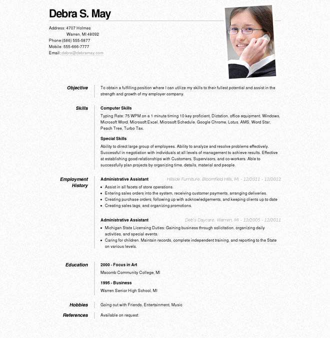 Online Resume Format | Resume Format And Resume Maker