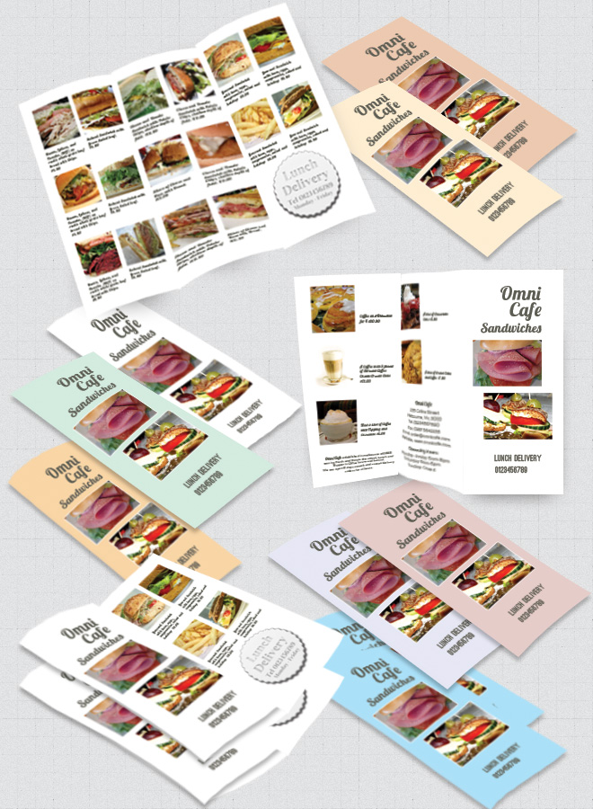 Cafe Brochure Trifold