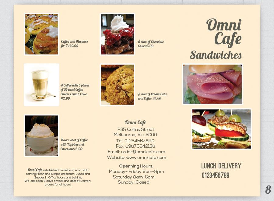 cafe brochure design - cafe trifold brochure cafe menu design cafe brochure
