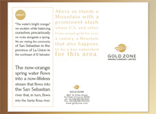 Gold Brochure Design